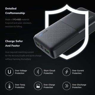 Hình ảnh TOPK I2009 20000mAh Powerbank Portable Dual Ports USB Charger External Battery for Xiaomi Samsung iPhone-6