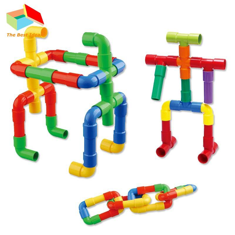 💡Ideal Baby Toy Baby Assembling Water Pipe Building Blocks Educational Toy