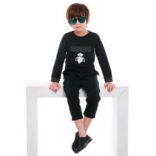 Bộ quần áo bé trai Narsis KE9052 xanh rêu đậm thumbnail