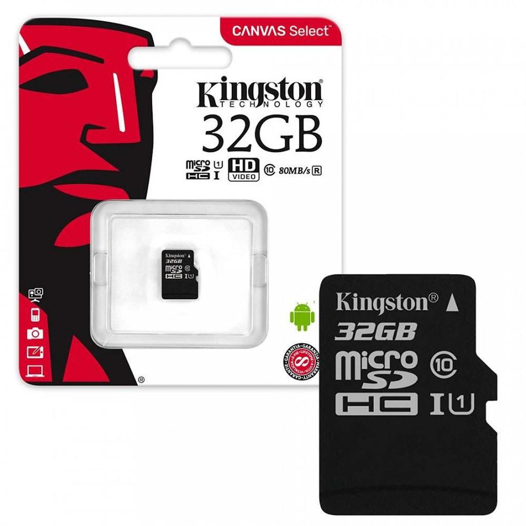 Chính hãng] Thẻ nhớ KINGSTON 32GB MICRO SD CLASS 10 (Bảo hành 24 tháng)