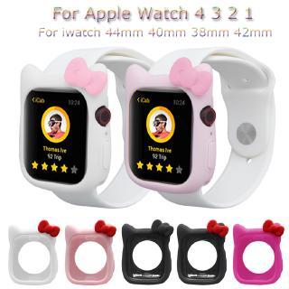 Vỏ bảo vệ đồng hồ Apple Watch Series 6 Se 5 4 3 2 1 bằng silicon cao cấp 44mm 40mm 38mm 42mm