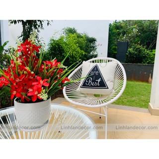 Bộ bàn ghế ban công ( ghế mây nhựa/ ghế ngoài trời/ghế sân vườn)