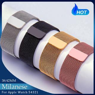 Dây Đeo Inox Milanese Cho Đồng Hồ Thông Minh Apple Watch Series SE 6 5 4 3 2 1 42mm 38mm 44mm thumbnail