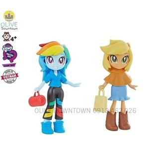 AplleJack & Rainbow Dash – Bộ 2 Pony 10cm kèm váy áo, phụ kiện – Pony Fashion Squad