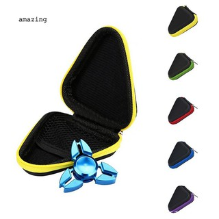 ✌Portable Round Triangle Hard Storage Case Gift Box for Fidget Hand Spinner Toy