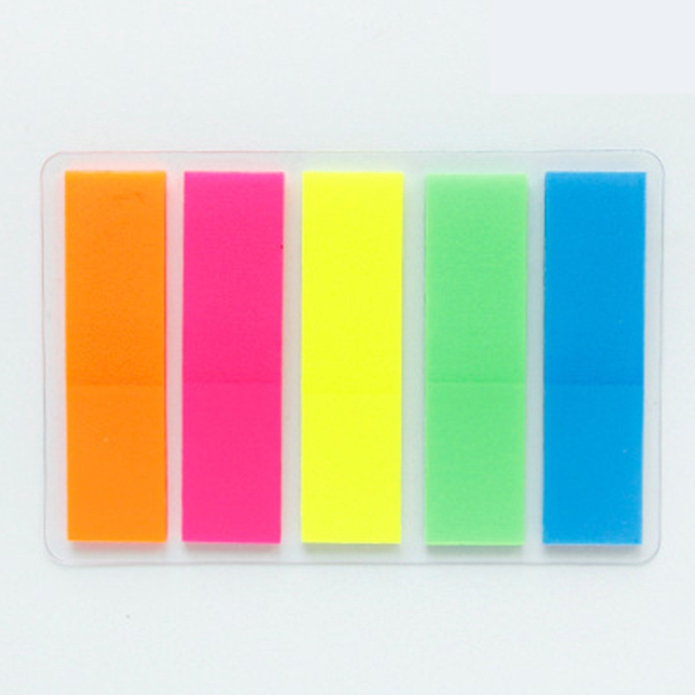 75pcs Removeable Home Supply Post Transparent Paper Products Rainbow Flags Bookmark Notes Monthly List Self Adhesive