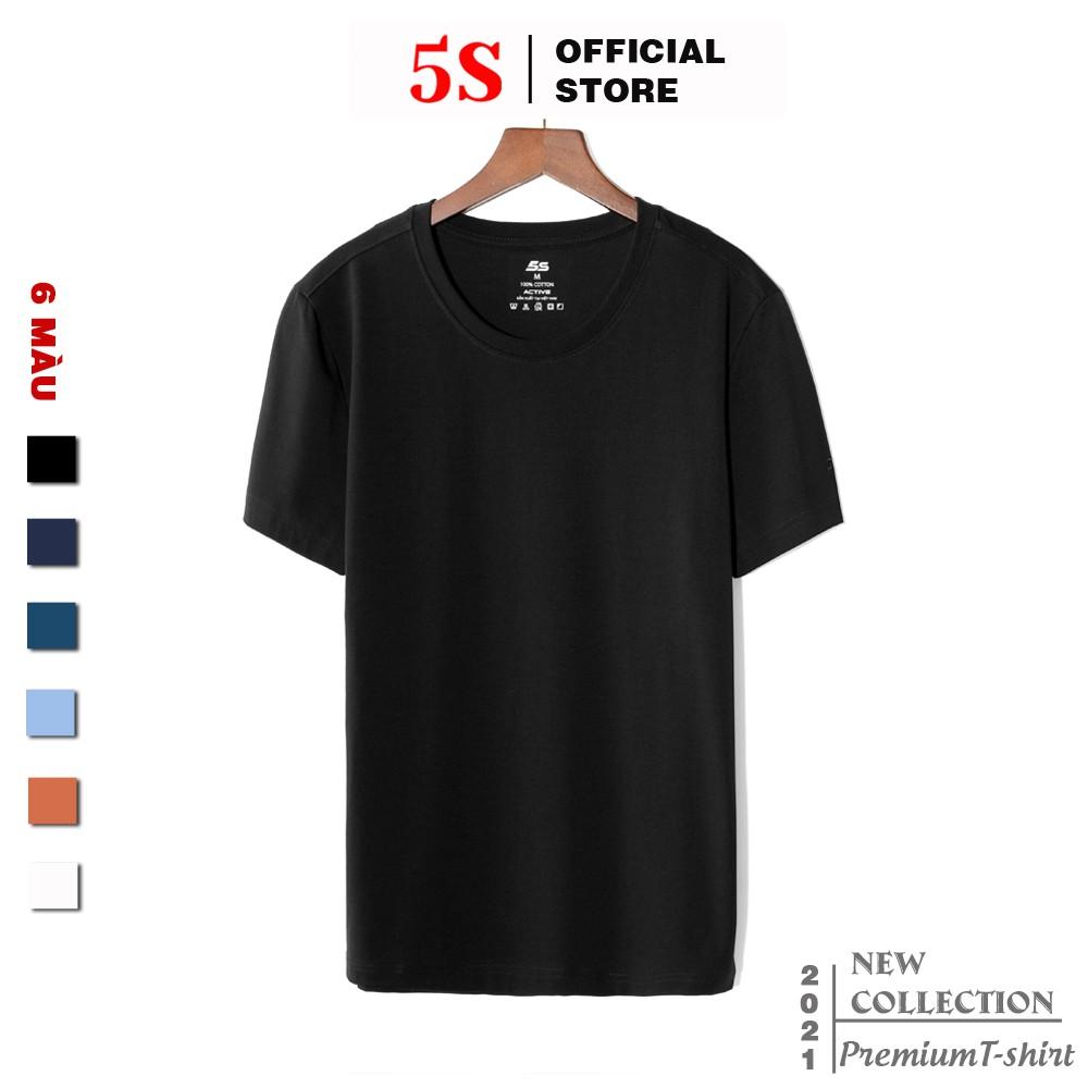 Áo Thun Nam Ngắn Tay 5S (6 Màu), Chất Liệu Cotton Premium Thấm Hút, Kiểu Dáng Trẻ Trung, Năng Động (TSO21004-02)