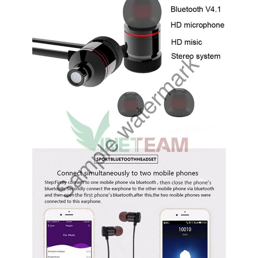 [ Giá Rẻ Nhất ]  Tai nghe Bluetooth Sport S8 – Âm thanh siêu Bass (Đen, Đỏ)