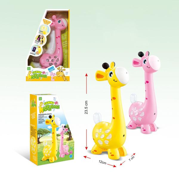 Children Magic Giraffe Microphone Speaker Cartoon Animal Mic with MP3 and Recording Function Toy