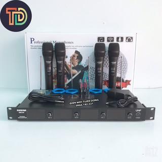 Micro không dây Shure SR328 Gồm 4 tay mic tiện lợi cho karaoke đông người