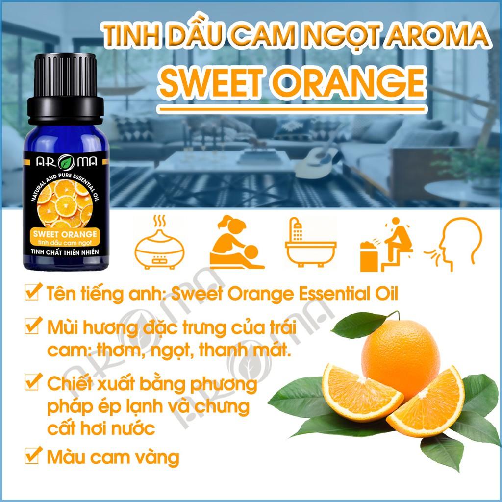 Tinh dầu Cam ngọt AROMA Orange, tinh dầu thơm phòng chăm sóc da, chăm sóc tóc
