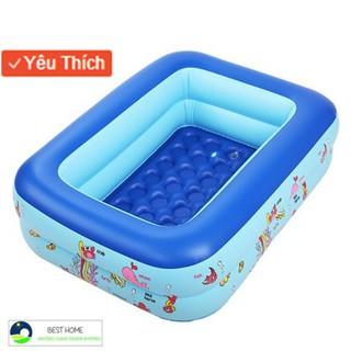 [FLASH SALE] Bộ sản phẩm bể bao 3 tầng 1m5 kèm 100 Banh kính bơi bơm điện