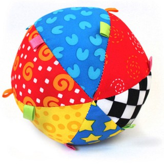 ✯apoint✯Hand Bell Ball Newborn Bed Rattle Large Colorful Cloth Ball