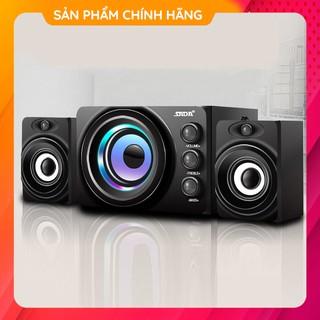 [Bass Cực Mạnh] Bộ 3 Loa Nghe Nhạc Máy Vi Tính Bluetooth SADA D-206 Để Bàn Âm Thanh Trầm Dùng Cho Điện Thoại Laptop