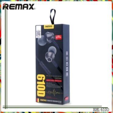 (Siêu tốt ) Tai nghe nhét tai Remax cao cấp RM-610D (Đen)