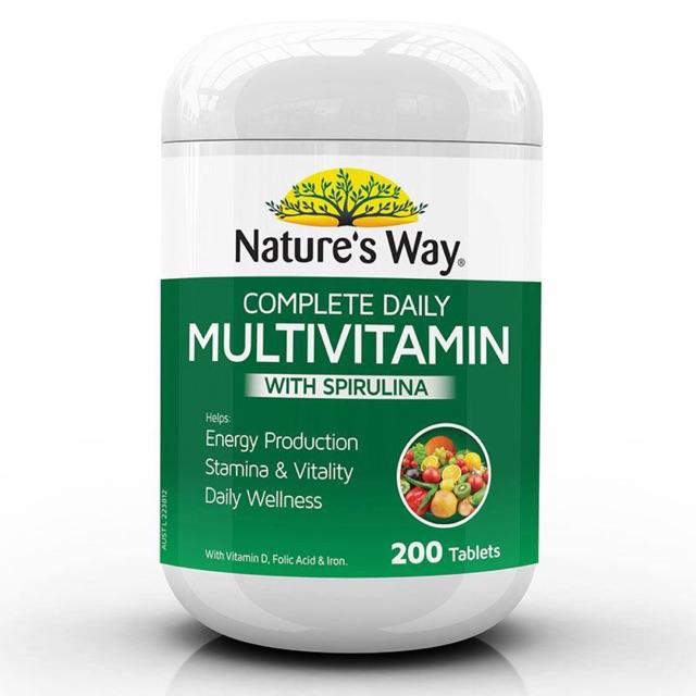 Multivitamin, Vitamin tổng hợp kết hợp tảo biển, 200 viên cao cấp