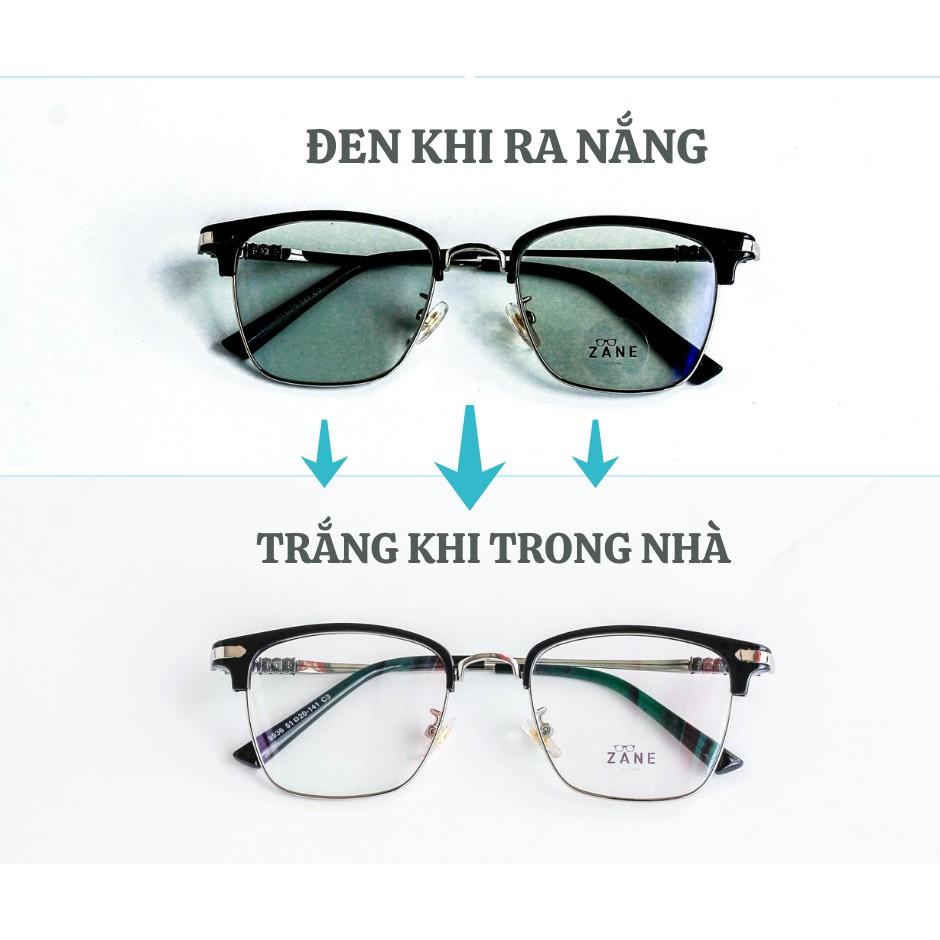 (Hàng Loại 1) Tròng kính cận đổi màu, mắt kính nam cận râm 2 in1, mắt kính cận đổi màu theo ánh nắng