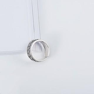 Hình ảnh Nhẫn Bạc Nữ S925 Tinh Khiết Chạm Khắc Họa Tiết Độc Đáo N-1688-2
