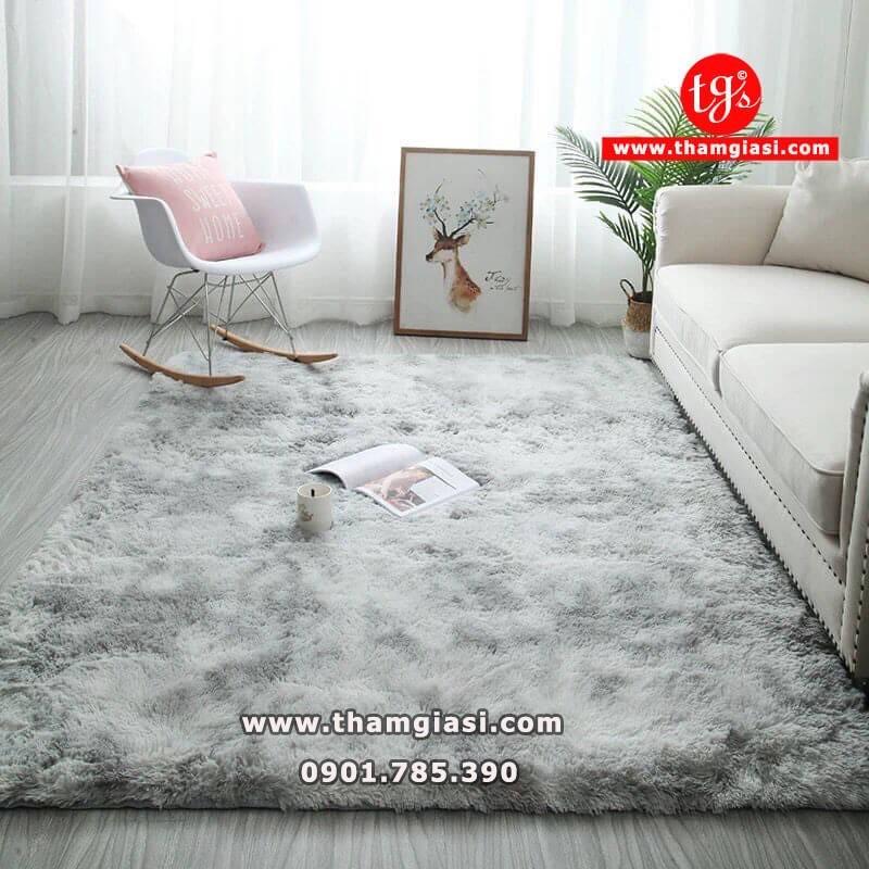 Thảm Xù Loang trải sàn cao cấp loại đế dày, trang trí trải sàn phòng khách, phòng ngủ - Thảm an toàn cho Bé
