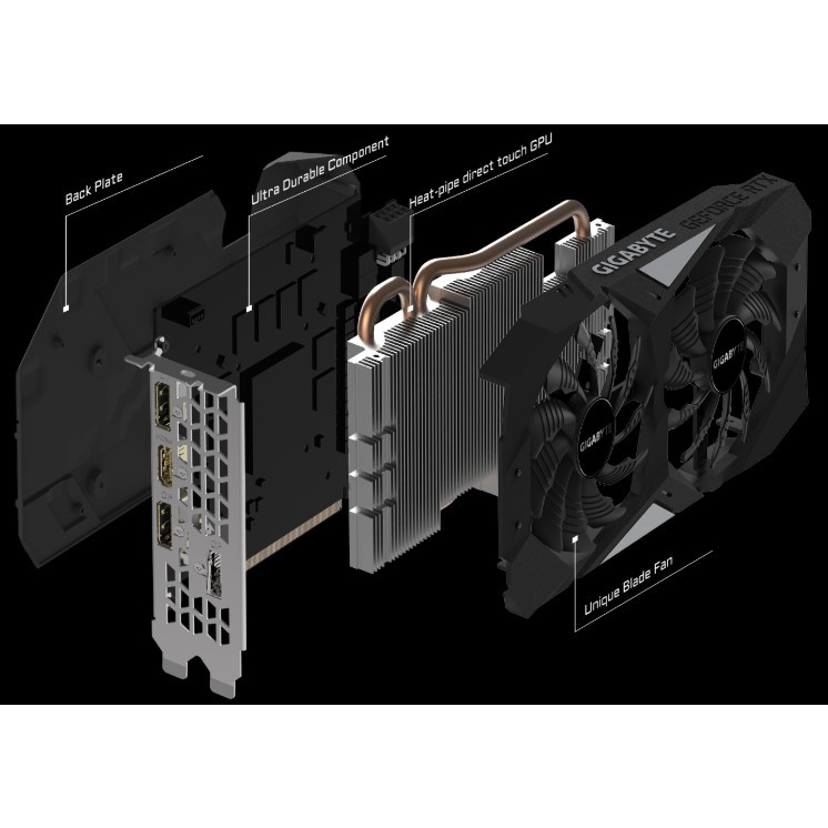VGA CARD MÀN HÌNH Gigabyte GeForce RTX 2060 OC 6G (GV-N2060OC-6GD) NEW