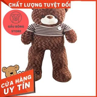 Gấu teddy áo len khổ vải 1m2 gấu bông store [HÀNG CAO CẤP]
