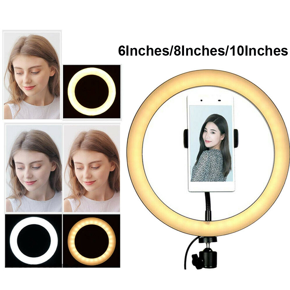 Eye Protection Led Ring Shape Photography Dimmable USB Low Heat Studio Fill Light