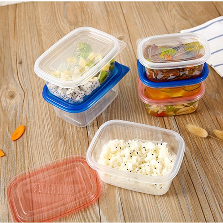 Hộp nhựa đựng cơm , thức ăn thừa – Hộp tủ lạnh đựng thức hoa quả ăn tủ lạnh nhựa pp trong suốt