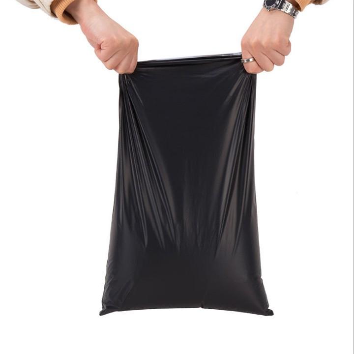 Túi nilong đóng gói hàng niêm phong dán miệng ,băng keo chắc chắn nhiều size- màu đen size 15x20cm-50 túi