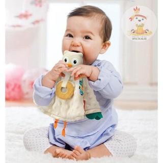 Set khăn cú mèo ôm ấp và gặm nướu cao cấp BPA Free Infantino thumbnail