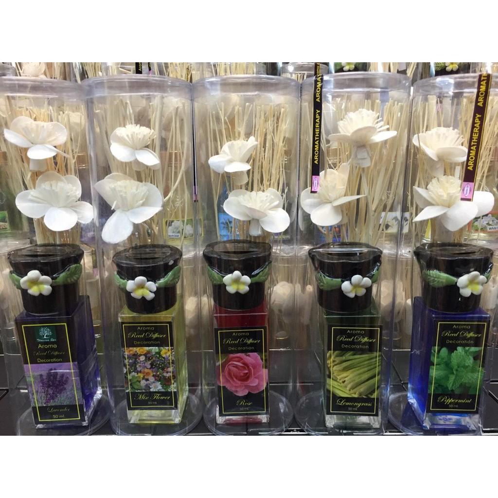 [MUA 2 TẶNG 1] Tinh dầu thơm phòng Thái lan diffuser 50ml