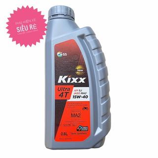 Nhớt Kixx Ultra 4T 15w40 bán tổng hợp API SJ