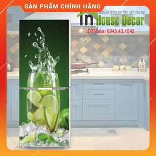Giấy Dán Tủ Lạnh Chống Thấm Nước - Phù Hợp Mọi Loại Tủ - Cốc Nước Chanh thumbnail