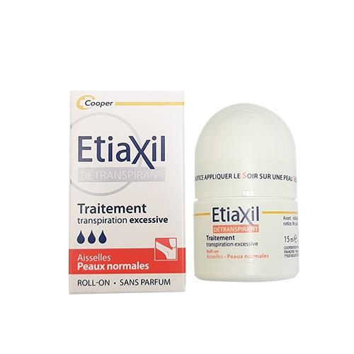 Combo Lăn khử mùi và điều tiết mồ hôi Etiaxil  Da Thường 15ML và Lotion Khử Mồ Hôi Chân Etiaxil Da Thường 100ML