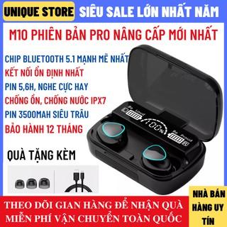 Tai Nghe Bluetooth M10 Phiên Bản Pro Nâng Cấp Pin Trâu 3500maH Nút Cảm Ứng Tự Động Kết Nối Chống Nước Chống Ồn
