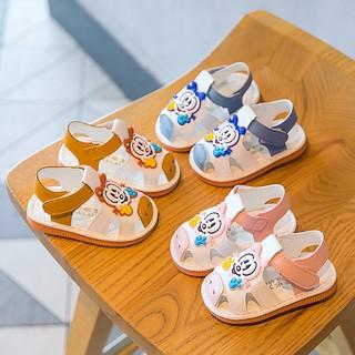 Dép sandal, dép tập đi cho bé,đế mềm cho các bé mới tập đi hình khỉ con đáng yêu bé từ 0 đến 2 tuổi