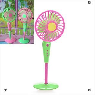 JS*1 X Mini Fan Toys for Barbies Kids Dollhouse Furniture Accessories Color Random
