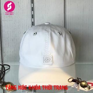 [FreeShip] Mũ nón sơn trắng phối da chính hãng CA04