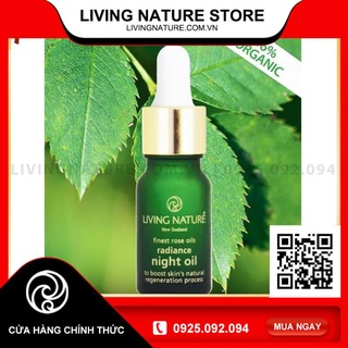 [Official Store] Dầu dưỡng Living Nature Radiance Night Oil 10ml thumbnail