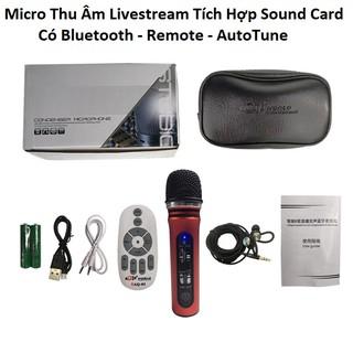 Micro thu âm livestream ATK10 - Micro Thu Âm Live Stream Tích Hợp Sound Card K10 Thế Hệ Mới 2020 - Chính Hãng AQTA