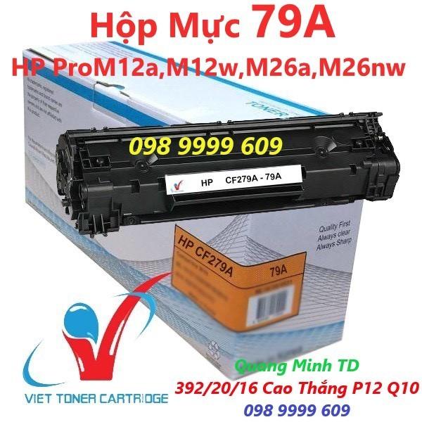 [Mã ELAPR20K giảm 20K đơn 20K] Hộp Mực 79A - HP Pro M12a, M12w, M26a, M26nw - Cartridge CF279A [Full Box]