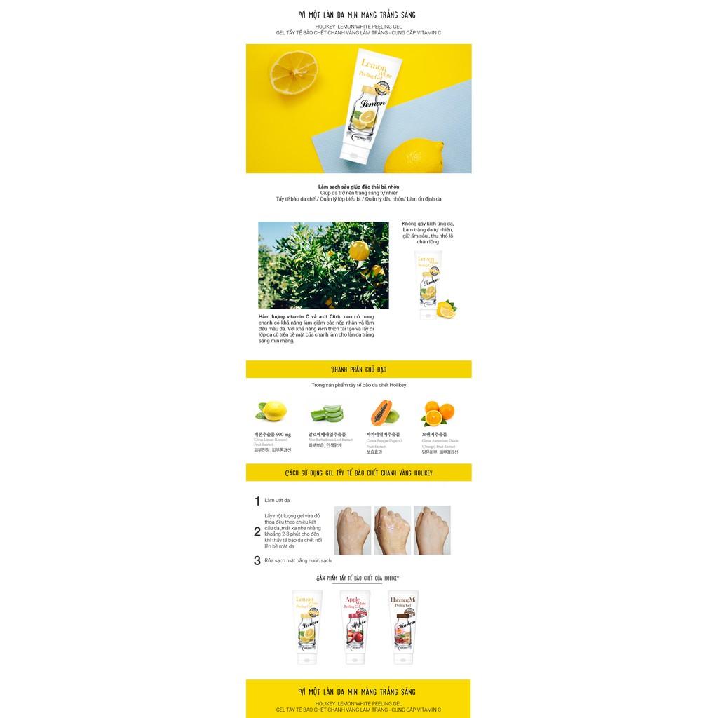 Gel Tẩy Tế Bào Chết Chanh Vàng Làm Trắng- Cung Cấp Vitamin C Holikey Lemon White Peeling Gel 100ml