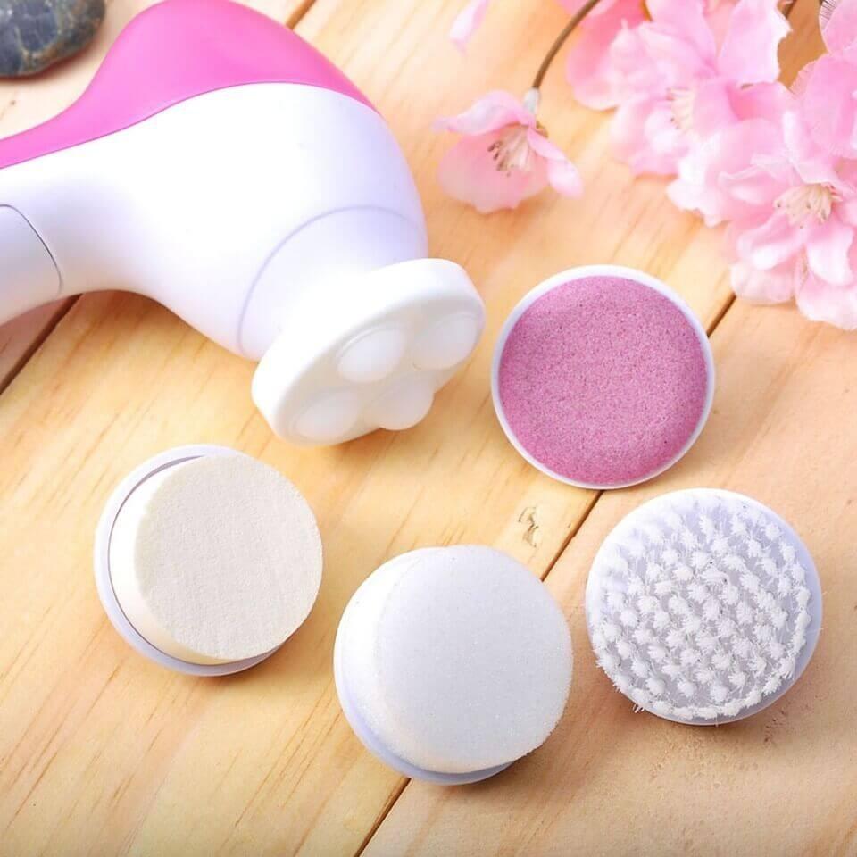 Máy rửa mặt và massage da mặt 5 in 1