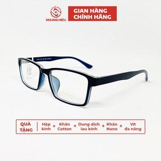 Gọng kính cận thời trang nam NHUNG HIẾU THIARI nhựa dẻo dáng chữ nhật – Lắp mắt kính theo yêu cầu