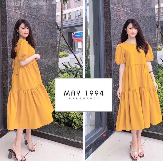[Mã FAMAYWA giảm 10K đơn 50K] Váy bầu Đầm bầu dáng xuông thiết kế nữ tính