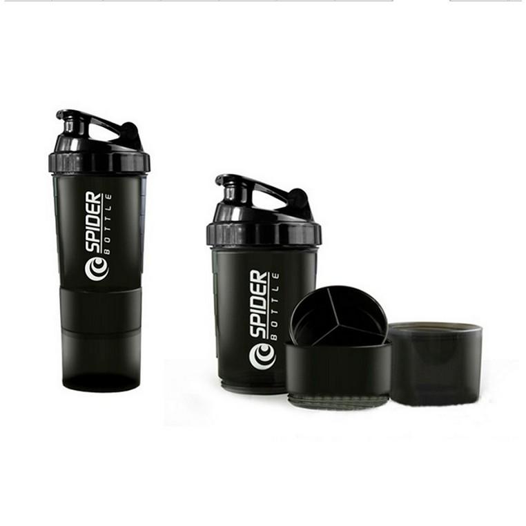 Bình lắc Shaker tập GYM 3 ngăn tiện dụng 500 ml
