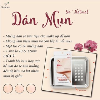 Miếng dán hút mụn So Natural Red-Tock Clear Spot Patch