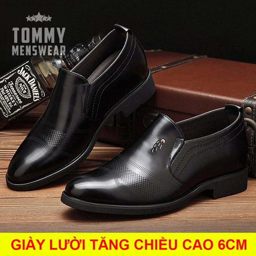 Giày Nam Tăng Chiều Cao - TẶNG TẤT - Giày Lười Nam Bản Lĩnh Phái Mạnh GD45