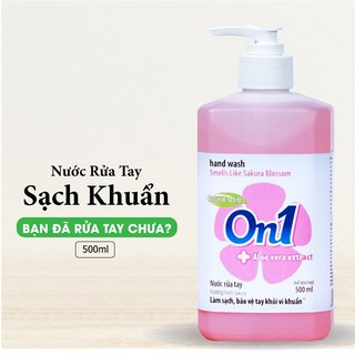 COMBO 2 chai Nước rửa tay sạch khuẩn On1 500ml hương BamBoo Charcoal và Fresh Sakura-3