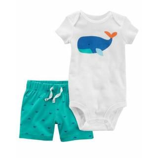 126H386 Set body chip trắng cá heo xanh và quần Carter s chuẩn Mỹ thumbnail