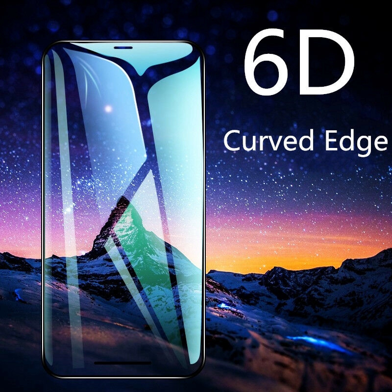 6D CURVED Full Cover Tempered Glass Screen Protector For iPhone XS Max XR X